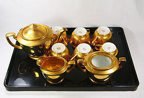 japan  porcelain  Noritake dessert  set gold