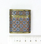 china Old cloisonne snuff box lovely colors republican