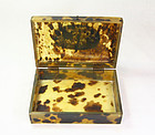 china old tortoise shell box republican  jewelry