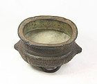 china old bronze incnse burner real legs
