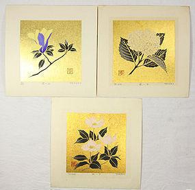 Japan Haku Maki 3 Flowers 1975 Research Note 14
