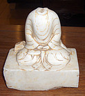 china old marble buddha headless qing