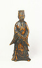 china  Old wood  statue  snall