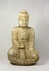 .china old marble buddha early qing