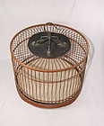 china old bamboo bird cage  republican