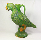 china old Pottery Parrot Polly
