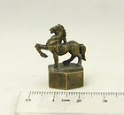 china  bronze seal  year of the horse ma nien