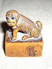 china toggle mythical animal tiger dog chop