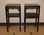 china  pair  blackwoood tables