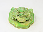 china frog on lotus big green