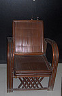 China pair of rattan arm chairs   Mao Zedong Era  and his pair