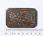 china   old  wood plaque   dragon