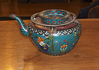 china old cloisonne teapot
