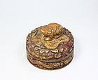china  gold frog box