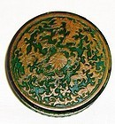 china old ink paste box dragon