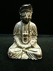 China Old Buddha  wood mid qing
