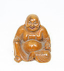 china wood laughing buddha