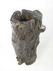 china  old  tree bark style brushpot