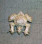 China silver frog pendant