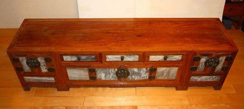 china kanggui low table wood and marble