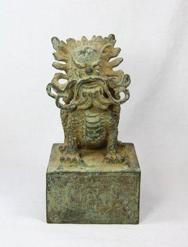 China old bronze dragon seal