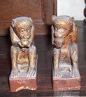 china old Monkeys  pair baijian