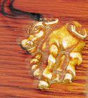China old ivory ox toggle