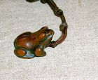 China old wooden frog toggle