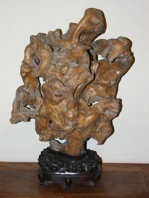 china Massive root carving early Qing