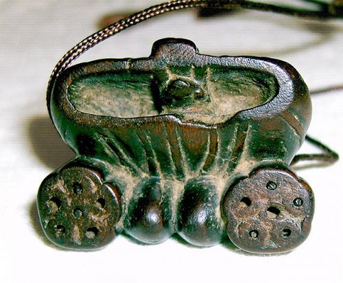 China old toggle dark lotus wrapped like package