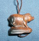 China old zodiac toggle � pig with curly tail