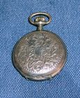 French Silver watch case Late 18th century