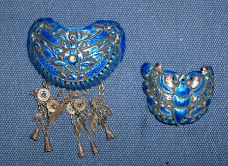 China old hair ornaments. 19th century.