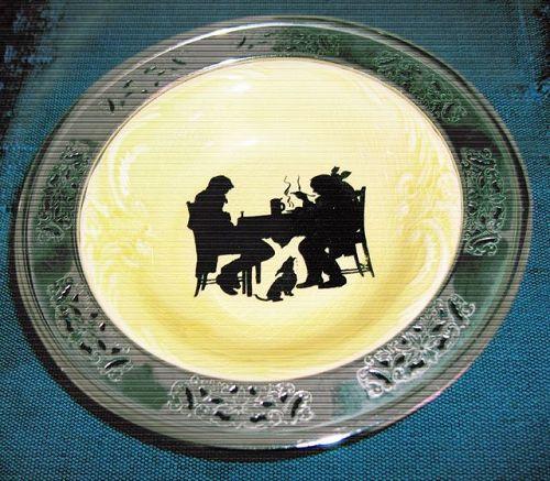 American Ceramic bowl with chrome rim
