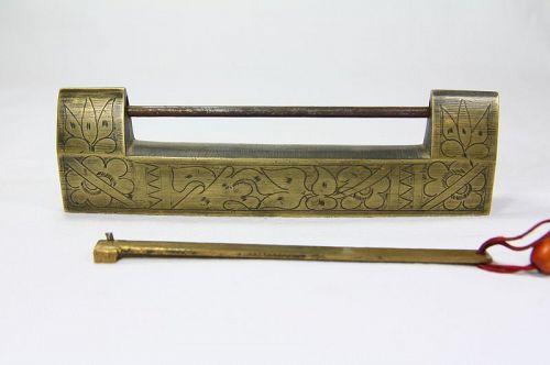 china old brass lock