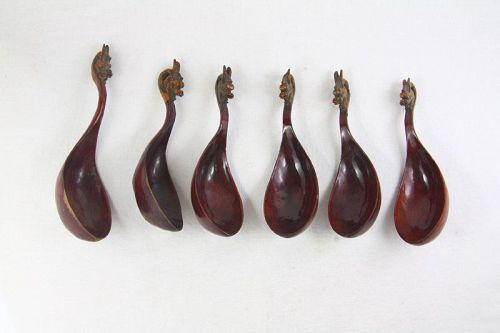 China republican Lacquer spoons set of 6