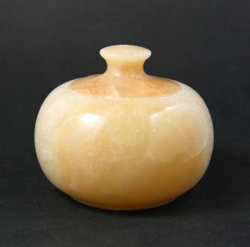 China. Round stone box.