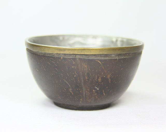China. Coconut shell cup.