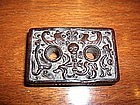China Antique Qing Zitan Purse Clasp; Ivory clasp