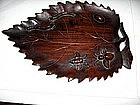 China Antique Scholar's Object rosewood Palette