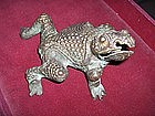 "China Antique Bronze Frog  ""Ornament"""