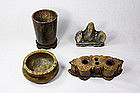 China Antique Soapstone Scholar's Objects 20th C
