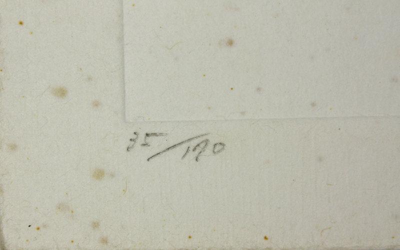 "Japanese Woodblock Print Haku Maki  ""81-12 (Empty)"""