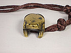 China Antique Bronze  Frog Toggle