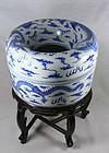 China Antique Porcelain Large Jewelery Box  Guangxu
