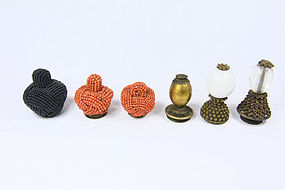 China Qing Maoding Hat Knobs Manchu Official ranks