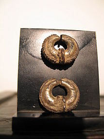 a pair of khmer earrings
