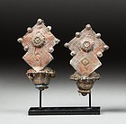 a pair of afghan earrings