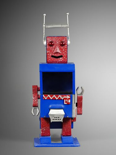 a rare  robot bubble gum vendor italy sixties