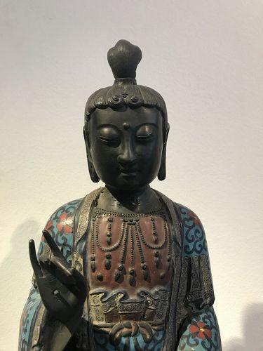 a japanese bronze buddha ,meiji,period